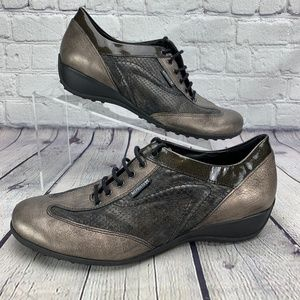 Mephisto Air Relax Metallic Leather Snake Sneakers